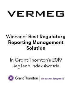 Winner of best regulatory reporting management solution